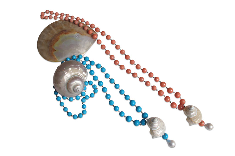 turquoise,shell&pearl