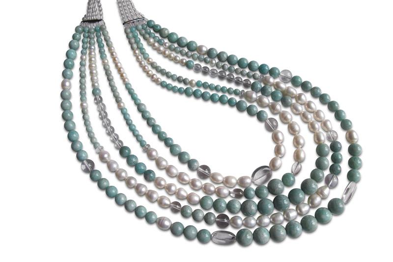 amazonite,pearl,quartz&silver