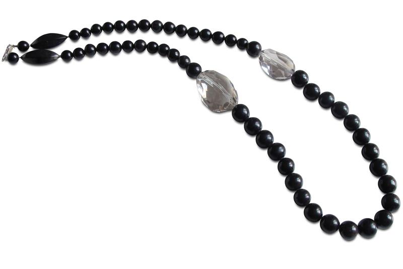 black horn, cristal rocks & silver