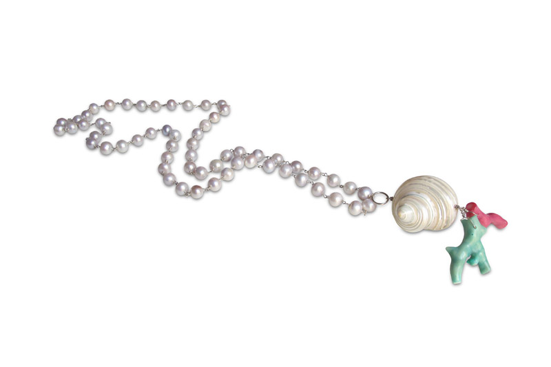 pearl,shell,coralbamboo&silver